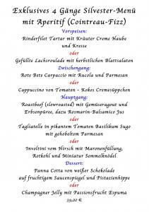Vier Gänge Menü 31.12.2014